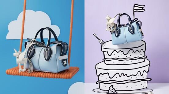 超萌獨角獸、晴空藍配色…集結所有夢幻元素於一身的TOD'S D-Styling Bag限量包 新亮相