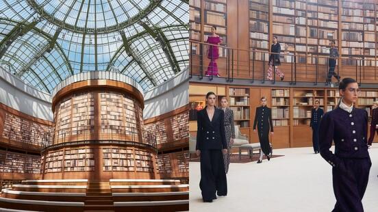 香奈兒的圖書館你去過嗎? Virginie Viard獨自掌舵的首個香奈兒高級訂製系列,完美演繹年輕世代女性的文藝形象