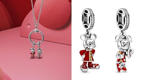 米奇、米妮換上喜氣新衣!Pandora推出新春鼠年系列,讓米老鼠穿上中國傳統服飾