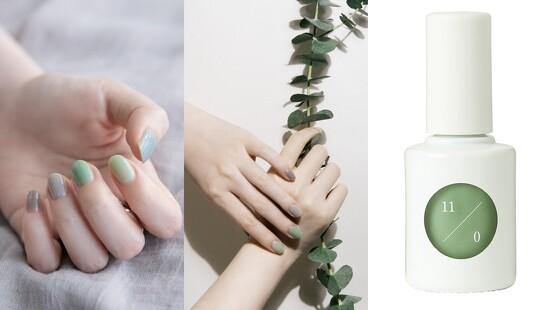 uka彩色指甲底油2020新色,護甲兼具指彩效果,當中的奶油粉、薄荷綠太春天