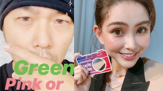 昆凌隱形眼鏡最愛戴「橄欖綠、岩石灰」,搭配服裝展現俐落眼神,另外推薦「粉紅色彩拋」讓眼神超溫柔