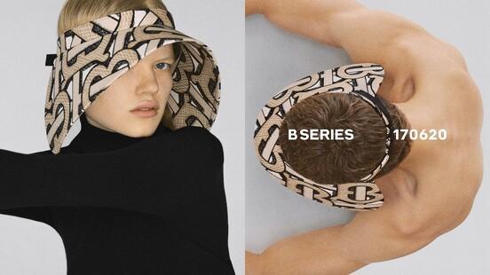 有了它橫行整個夏季!Burberry B系列再推全新TB Monogram遮陽帽,老花圖騰放大後更時髦