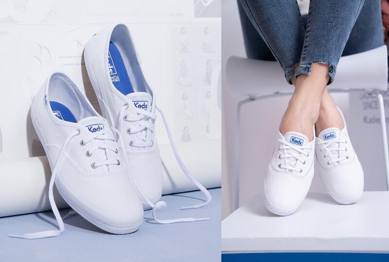 Keds Champion白色皮革鞋款