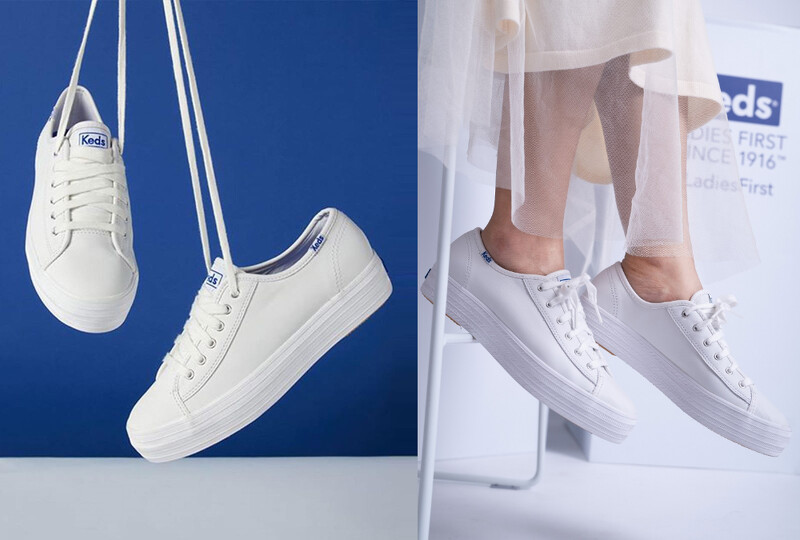 Keds Triple Kick白色皮革鞋款
