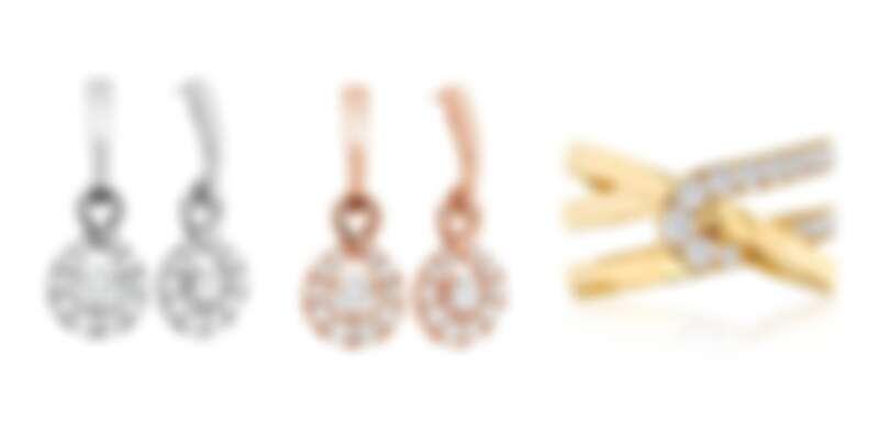 HEARTS ON FIRE OPTIMA系列 白K金鑽石耳環、玫瑰金鑽石耳環、黃K金鑽石戒指