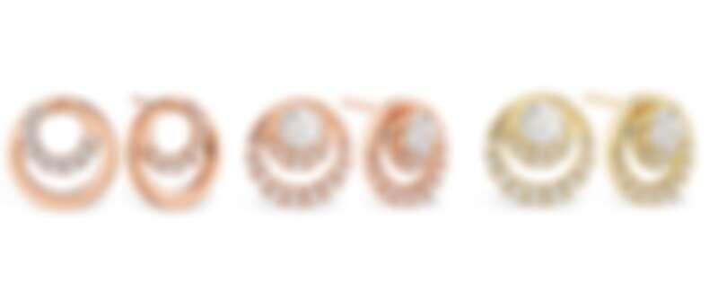 HEARTS ON FIRE OPTIMA系列 玫瑰金鑽石耳環、玫瑰金鑽石耳環、黃K金鑽石耳環