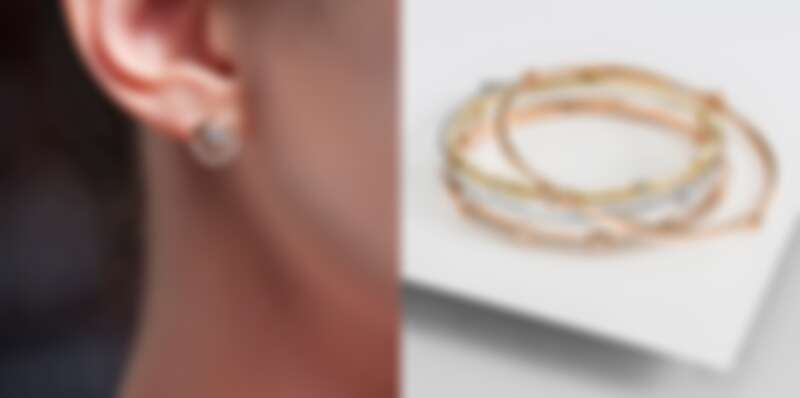 HEARTS ON FIRE的OPTIMA系列 黃K金鑽石耳環、玫瑰金、黃K金、白K金鑽石手環、COPLEY玫瑰金鑽石手環