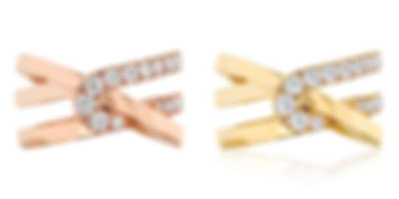 HEARTS ON FIRE OPTIMA系列 玫瑰金鑽石戒指、黃K金鑽石戒指