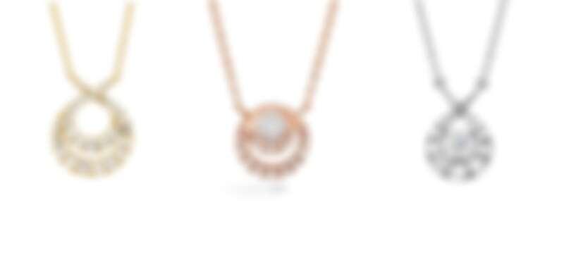 HEARTS ON FIRE OPTIMA系列 黃K金鑽石項鍊、玫瑰金鑽石項鍊、白K金鑽石項鍊