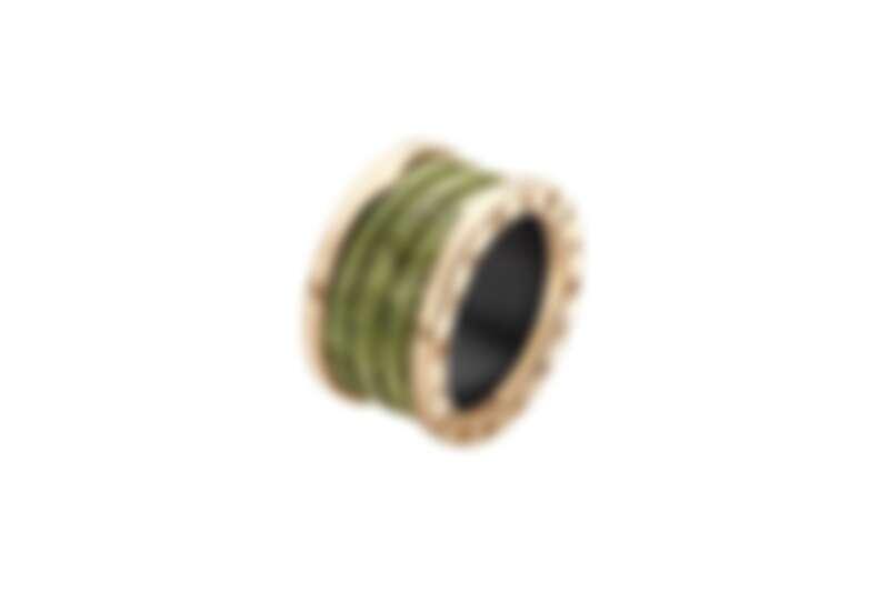 Anish Kapoor 親自設計的B.zero1 玫瑰金硬綠大理石戒指
