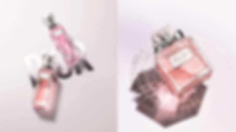 (左)Miss Dior親吻淡香水20ML,NT1,600 (右)Miss Dior淡香水50ML,NT3,300/100ML,NT4,650