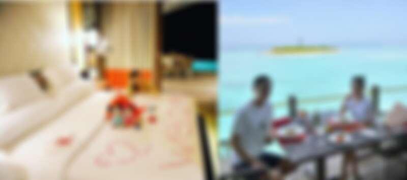 芬尼芙的專屬管家特地安排專屬兩人的小驚喜『浪漫海灘晚餐』
