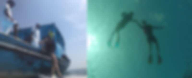 楊千霈夫婦體驗卡尼島浮潛行程