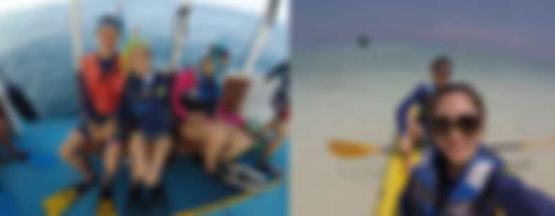 楊千霈夫婦體驗獨木舟、浮潛等新鮮行程,發現不一樣的自己