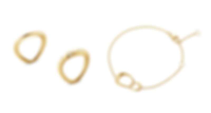 OFFSPRING系列: 18K黃金鑽石戒指、手鍊。