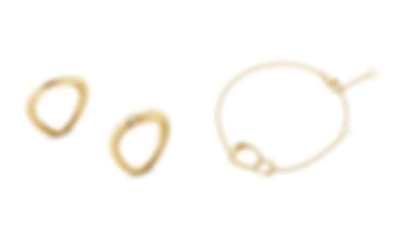 GEORG JENSEN OFFSPRING系列:18K黃金戒指、18K黃金鑽石戒指、18K黃金手鍊。