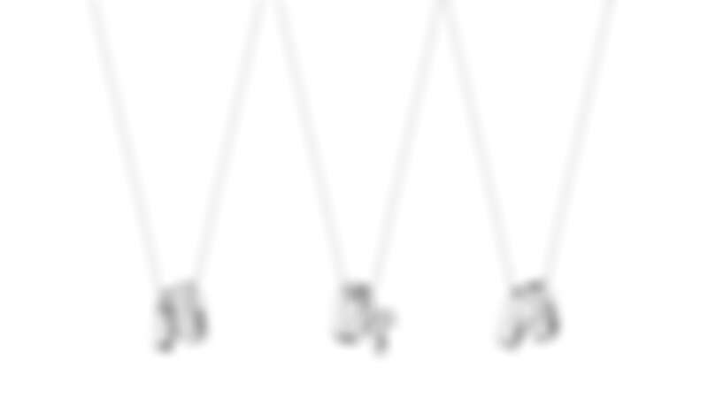 GEORG JENSEN MAGIC系列:18K白金鑽石鍊墜。