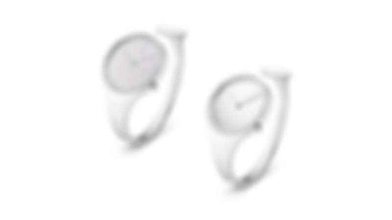 GEORG JENSEN VIVIANNA朵蘭系列手鐲腕錶:鋪鑽手鐲錶、圈鑽手鐲錶。