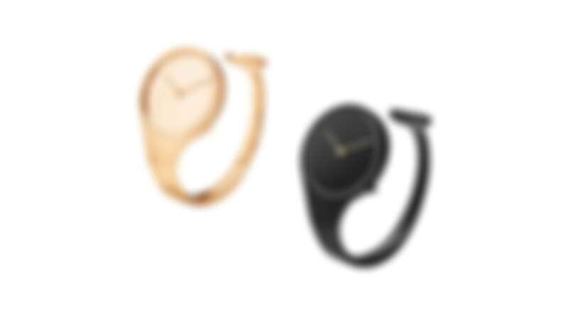 GEORG JENSEN VIVIANNA朵蘭系列手鐲腕錶:玫瑰金手鐲錶、黑色PVD手鐲錶。
