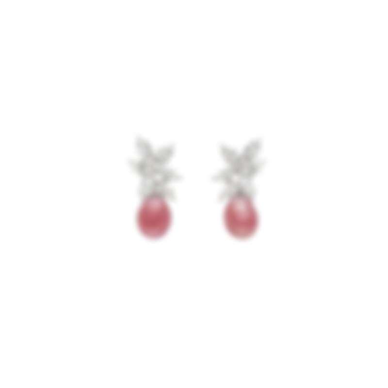 MIKIMOTO Natural Pearl 頂級珠寶系列-Queen Conch 孔克珍珠鑽石耳環,建議售價NT$400萬元