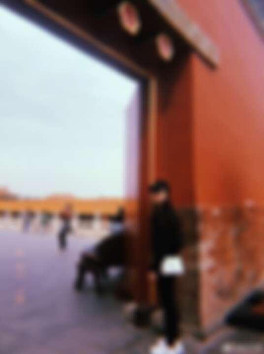 劉亦菲逛故宮