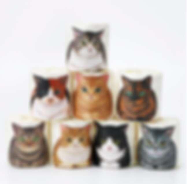 貓咪摺手坐 捲筒廁紙,284元。