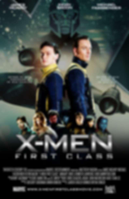 2011《X戰警:第一戰》海報。喜歡有頭髮的青年X教授嘛各位?