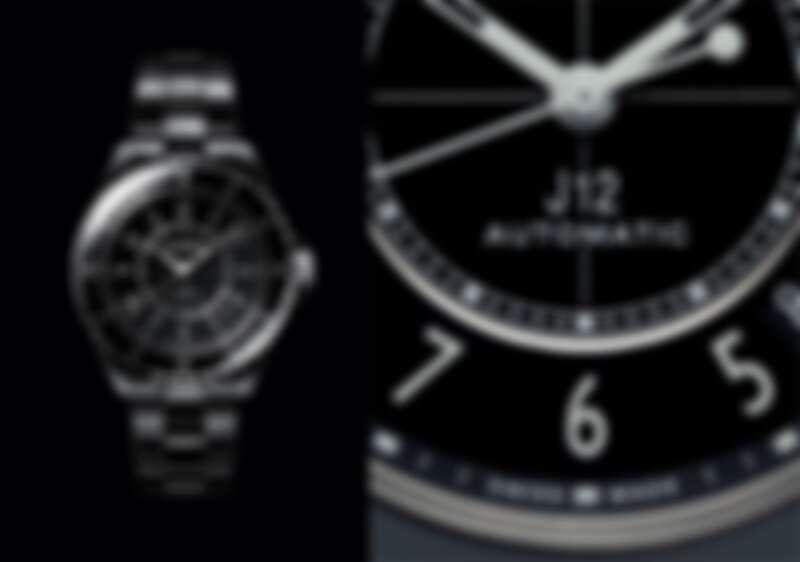 黑色J12抗磨精密陶瓷搭配精鋼錶殼腕錶,Chanel。