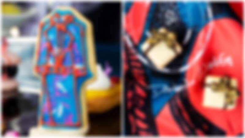 (左)Daniel Wong 手繪餅乾(右)禮物造型百香果白巧克力