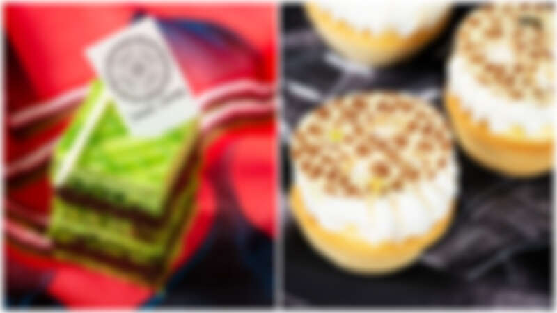 (左)抹茶歐培拉(右)豹紋檸檬塔