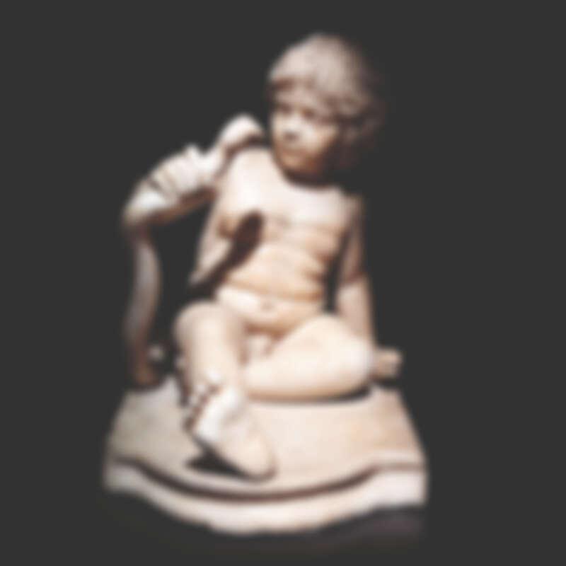 希臘神話中英雄海克力士(Hercules)的雕像,約莫是西元二世紀的文物,海克力士徒手殺蛇的形象代表著勇敢和懼怕的矛盾心情。