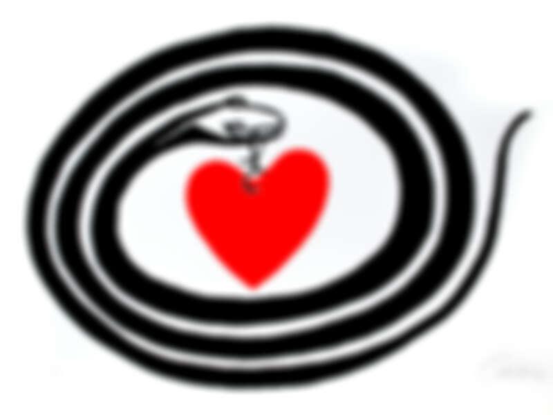 《心之月》(Month of Hearth),美國著名雕塑藝術家Alexander Calder1972年的創作,一條靈動的蛇唌著一顆心,意境任由觀者自行體會。