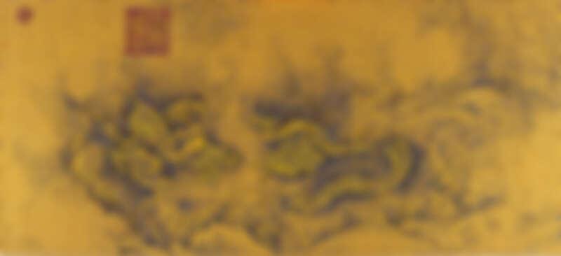 《九龍圖》(Nine Dragons),成都藝術家楊冕特別為這次展覽創作的作品,他將南宋畫家陳容的作品以青、洋紅、黃、黑的「CMYK」四原色以點畫技術重新處理,遠看是九條龍(在中國,蛇被稱為小龍),近看則全是彩色圓點的組成,超厲害!