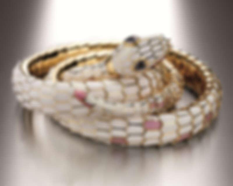 BVLGARI Heritage典藏系列Serpenti琺瑯腰帶