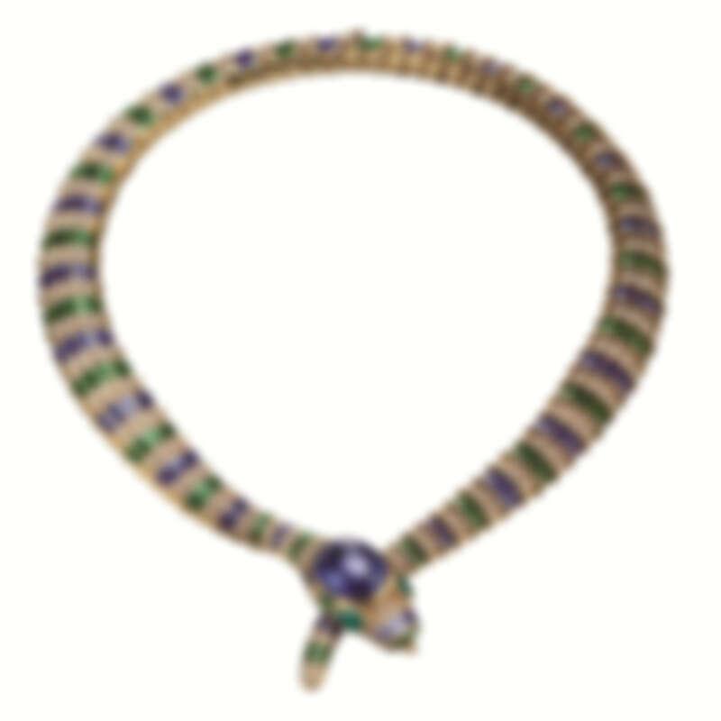 BVLGARI Heritage典藏系列Serpenti黃金彩寶項鍊