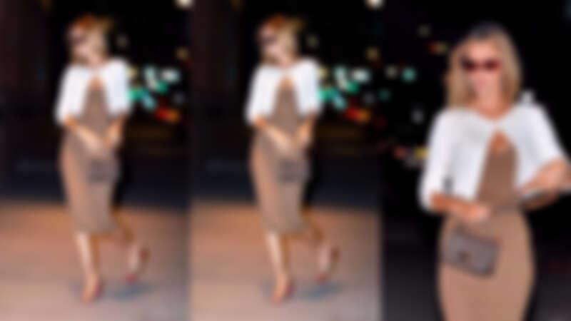 Bella Hadid全新髮色搭配Cece鍊帶包款