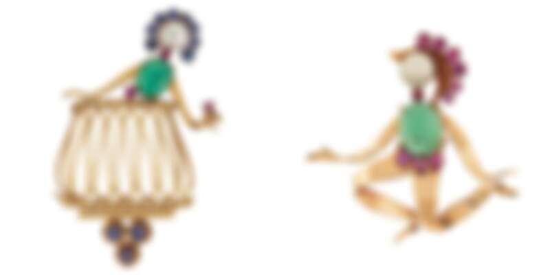 Romeo&Juliet胸針,Van Cleef & Arpels,約1951年之作品。