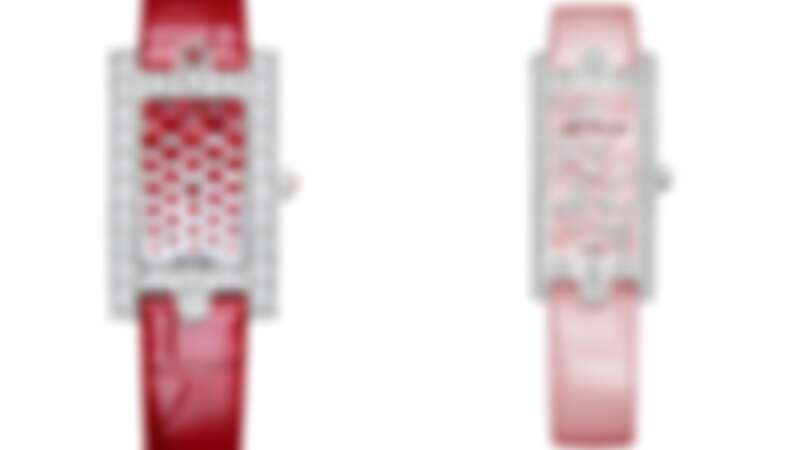 Harry Winston Avenue Classic 系列 Sweet Valentine腕錶,以及Mini系列Lily Cluster腕錶