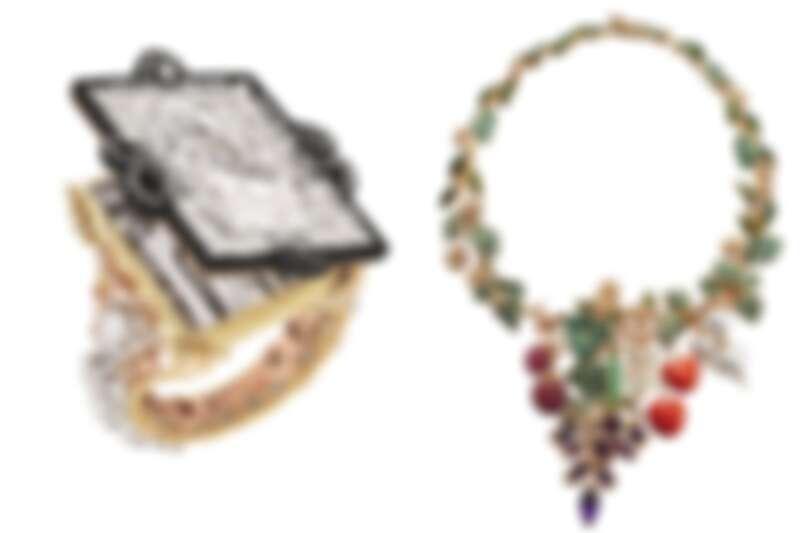 從凡爾賽宮的氣派鏡廳到迪奧先生系喜愛的蔬果食材,都能被Victoire de Castellane打造成一件件絕美的高級珠寶。