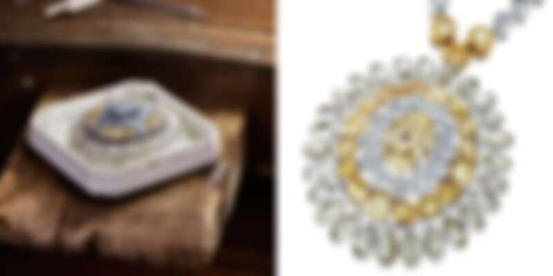 2.Electric Cichlid 高級珠寶圓牌鍊墜。