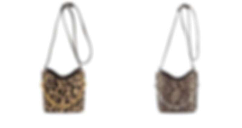 動物紋水桶包NT12,800、蟒蛇紋水桶包NT9,600