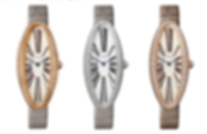 Baignoire Allongée腕錶-玫瑰金-中型款、白K金-中型款、玫瑰金錶殼鑲嵌鑽石-超大型款