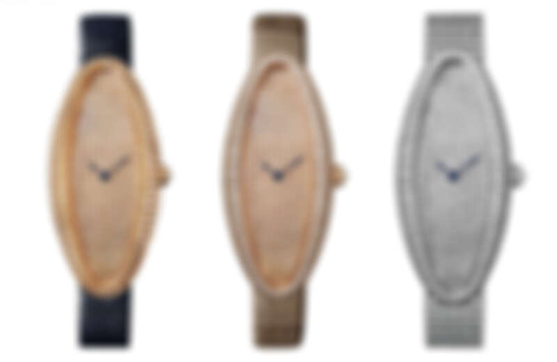Baignoire Allongée腕錶-玫瑰金錶盤鋪鑲-中型款、玫瑰金鋪鑲-超大型款、白K金鋪鑲-中型款