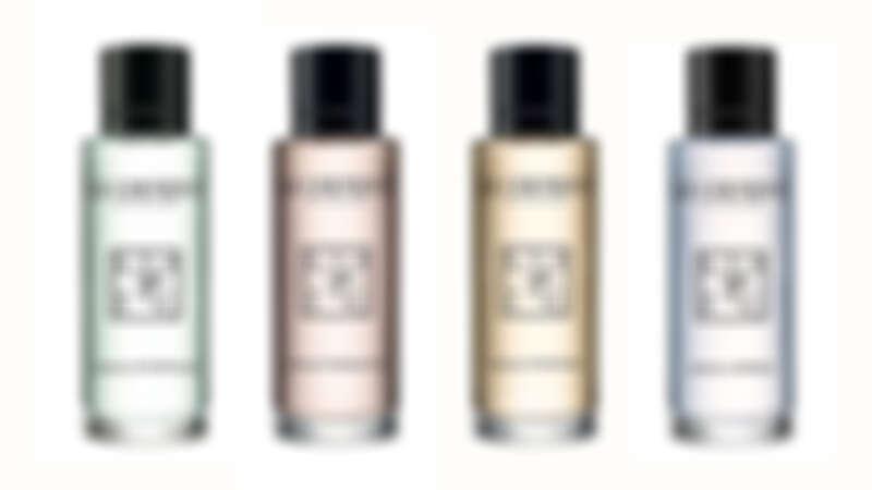左至右:寧芙之水淡香水、仙境之水淡香水、謎漾之水淡香水、皇家之水淡香水