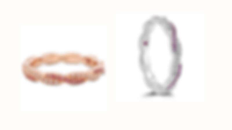 HARLEY GO BOLDLY戒指 玫瑰金/白K金款式、鑽石、粉紅剛玉