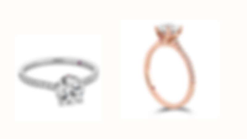 SLOANE SILHOUETTE戒指 白K金/玫瑰金全鑽款式 鑽石、粉紅剛玉、主鑽0.30ct起