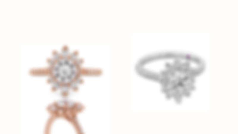 BEHATI SAY IT YOUR WAY戒指 玫瑰金/白K金款式、鑽石、粉紅剛玉、主鑽0.30ct起