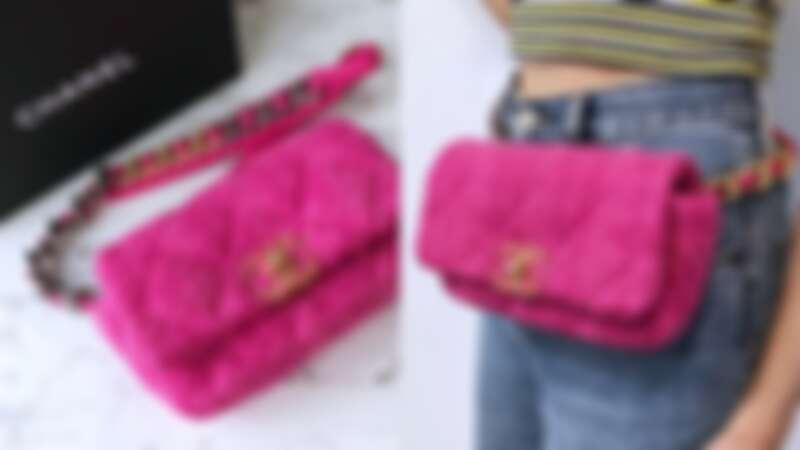 Chanel 19 Bag 斜紋軟呢腰包,NT109,300