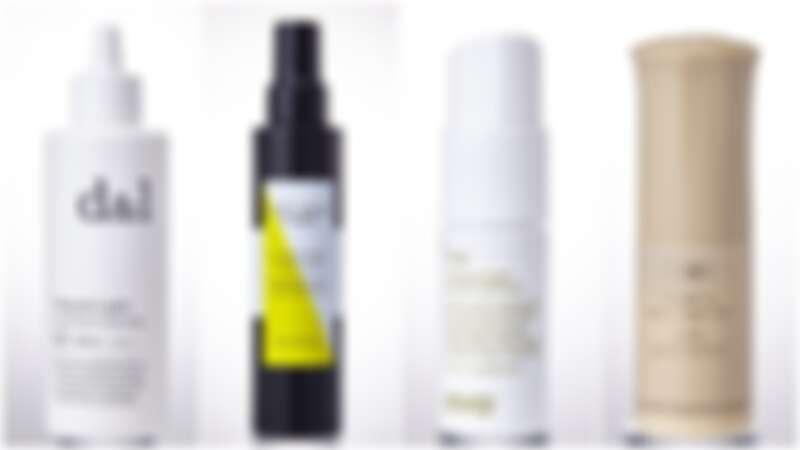 Uka uka頭皮淨化液,NT980。/Sisley Hair Rituel豐盈澎澎髮噴霧,NT2,700。/Evo 鬆粉。/oribe鬆鬆粉噴霧,NT1,450。
