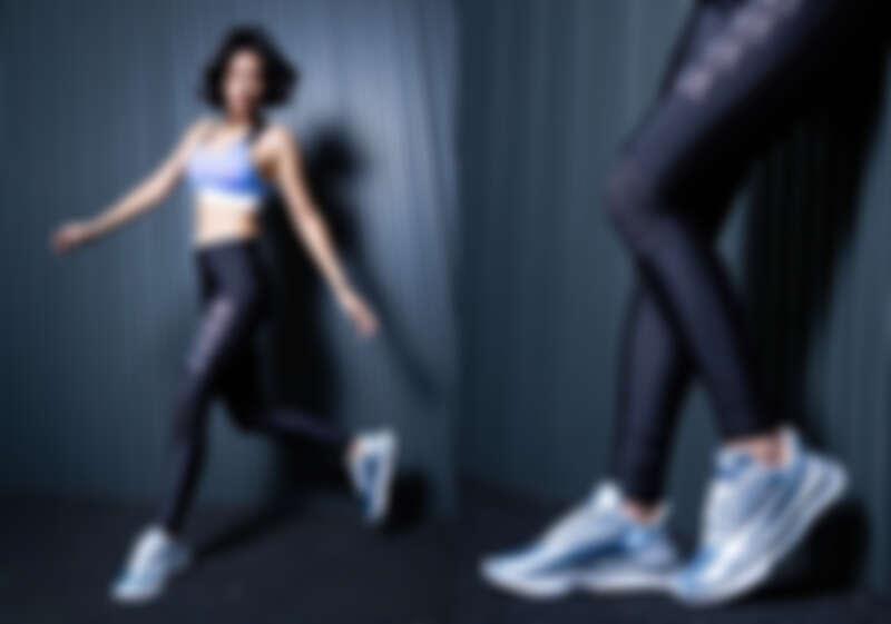 訓練系列Shift緊身褲,NT1,880、 LQDCELL Shatter XT Metal Wns鞋款,NT3,280。